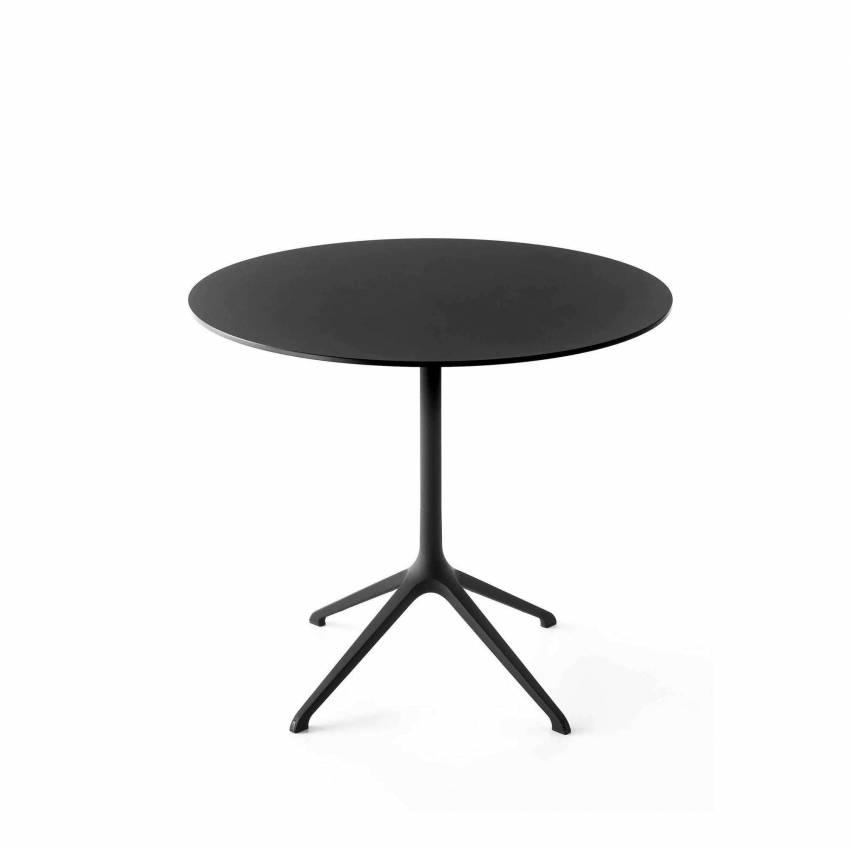 Table ronde bistrot ELEPHANT / Noir - Blanc / Kristalia