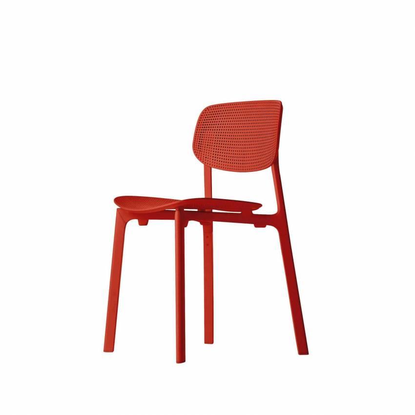 Chaise de jardin COLANDER / Rouge / Kristalia