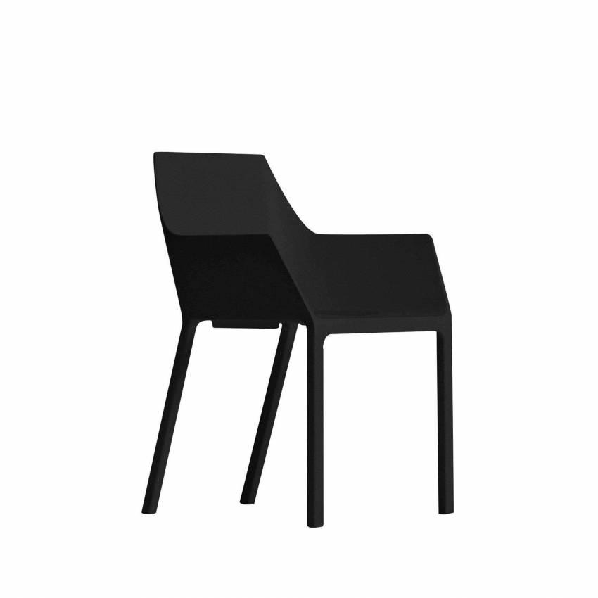 Chaise empilable MEM – Jardin / Noir / Kristalia