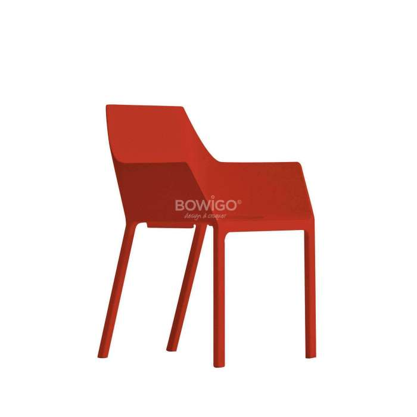 Chaise de cuisine MEM – Empilable / Rouge / Kristalia