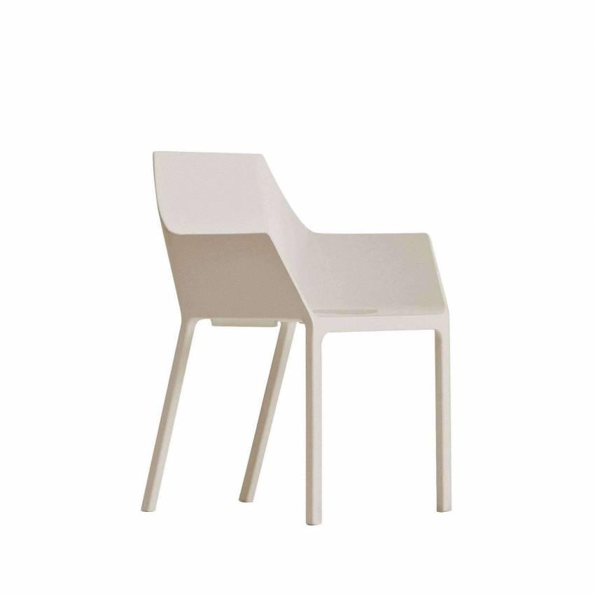 Chaise design MEM – Extérieur / Beige / Kristalia