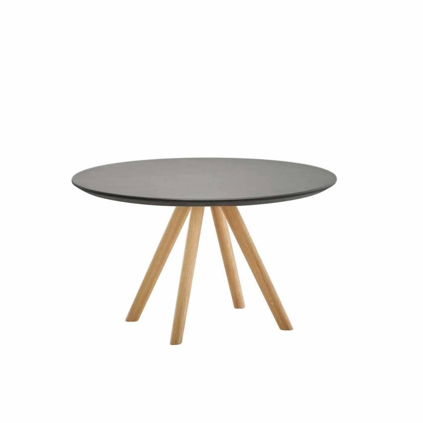 Table basse STIKS / H 40 cm, Ø 60, 70, 80 / Chêne