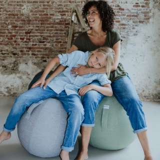BALLON ergonomique enfant / Tissu Stov Gris / Vluv