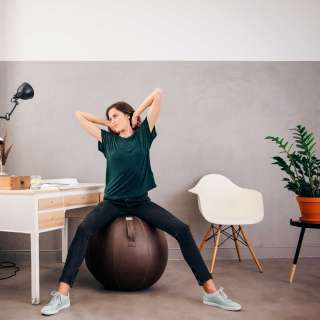 Assise ergonomique BALLON / Cuir Veel Moca / Vluv