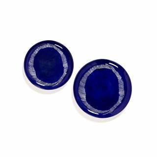 Assiette plate FEAST M / Ø. 22,5 cm / Porcelaine / Bleu