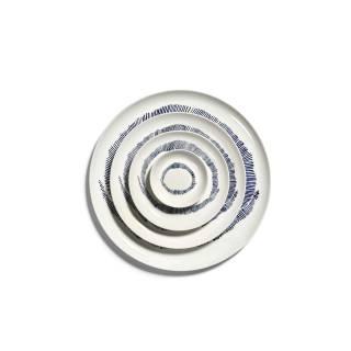 Vaisselle FEAST en porcelaine blanche et motifs bleus by Serax
