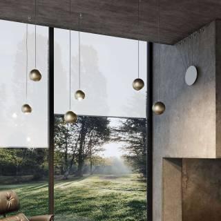 Suspension LED SPIDER / Champagne / Lodes – Studio Italia