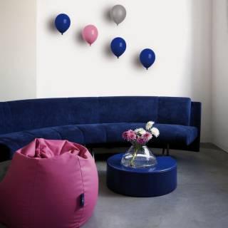 Objet décoratif BALLON à accrocher au mur / Céramique / Rose