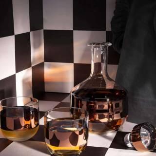 Décanteur TANK à whisky / Verre / Cuivre / Tom Dixon