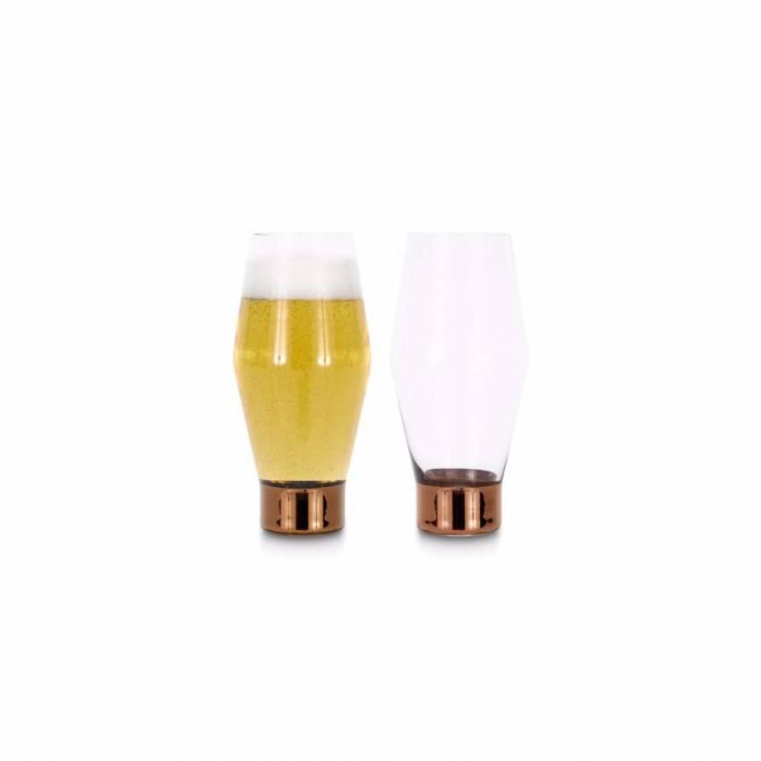 2 Verres à bière TANK / Verre / Cuivre / Tom Dixon