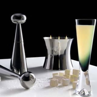 Flute à champagne TANK x2 / Verre / Noir / Tom Dixon