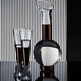 Flute de champagne TANK x2 / Verre / Cuivre / Tom Dixon
