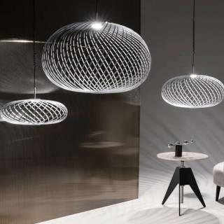Suspension SPRING LED / 3 tailles / Blanc / Tom Dixon