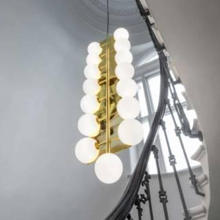 Lustre PLANE DROP - H. 1,54 m / Laiton / Tom Dixon