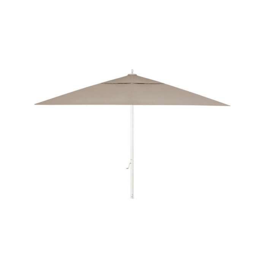 Parasol de jardin RIA / 400 x 400 cm / Toile Taupe