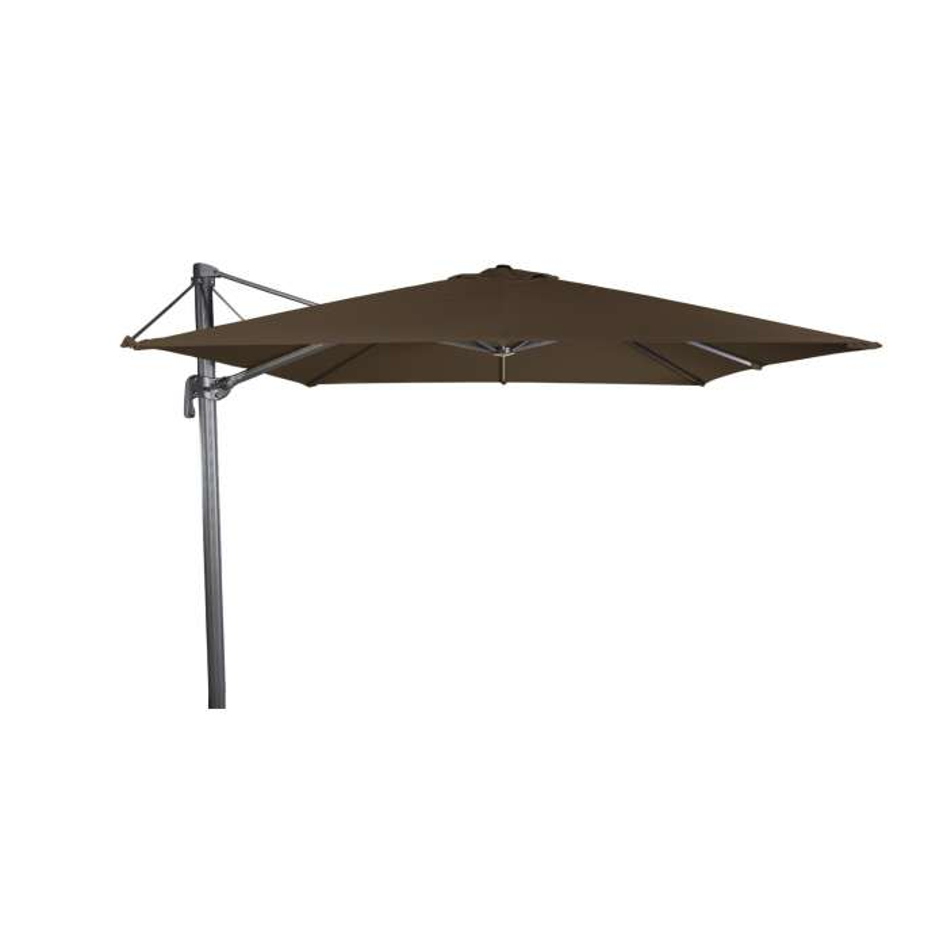 Grand parasol déporté FLEX / Toile Olefin / Moka
