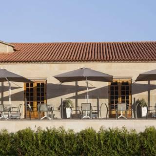 Parasol design de jardin FLEX / Toile / Rayure Anthracite