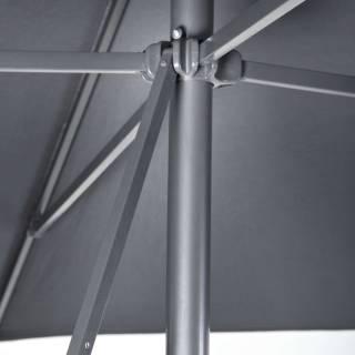 Parasol droit EOL / 250 x 250 cm / Anthracite