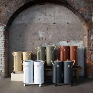 Poubelle de recyclage BINTHERE / Métal Blanc / Mizetto