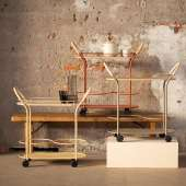 Chariot BISTRO - 77,8 cm / Métal / Terracotta / Mizetto