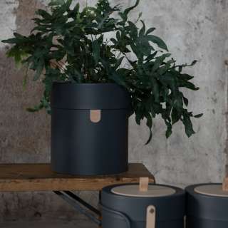 Pot de fleurs décoratif BINTHERE / Anthracite / Mizetto