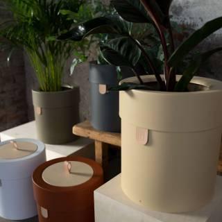 Pot de fleurs BINTHERE / Métal / Vert Olive / Mizetto