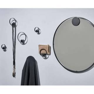 Miroir rond HOOKED ON RINGS / Métal Noir / Zone Denmark