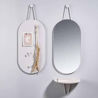 Miroir design A-WALL / Métal / Blanc / Zone Denmark