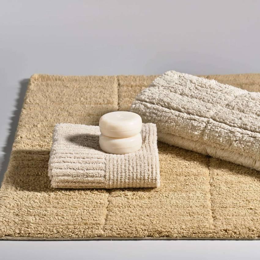 Tapis de bain TILES / Coton / Sable / Zone Denmark