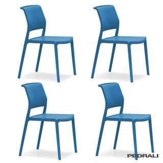 Chaise ARA 310 / Intérieur - Extérieur / Bleu / Pedrali