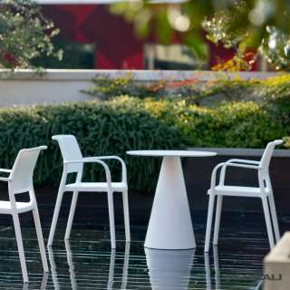 4 Chaises ARA 315 + accoudoir / Blanc / Pedrali