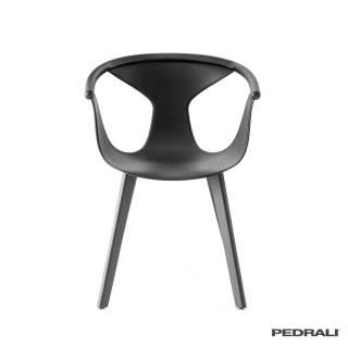 Chaise de salon FOX 3725 / Noir - Pied Frêne / Pedrali
