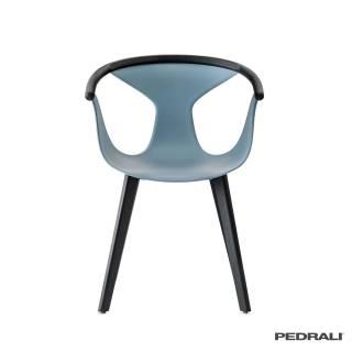 Chaise FOX 3725 – Salon / Bleu - Frêne Noir / Pedrali