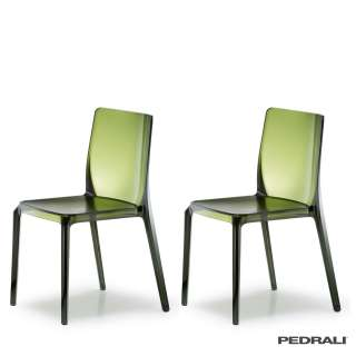 Chaise BLITZ 640 - x 2 / Vert Transparent / Pedrali