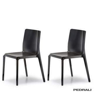 Chaise d'intérieur BLITZ 640 / Noir / Pedrali