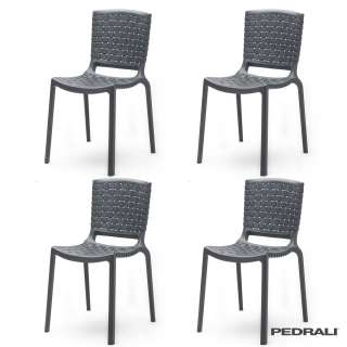 Chaise design TATAMI 305 / Gris Anthracite / Pedrali