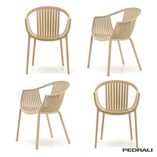 Chaise avec accoudoirs TATAMI 306 / Beige / Pedrali