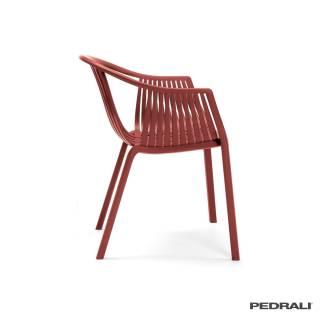 2 Chaises TATAMI 306 + accoudoirs / Rouge / Pedrali