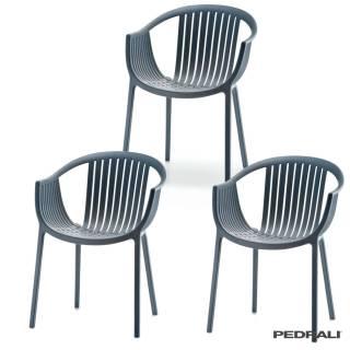 Chaise + accoudoir TATAMI 306 / Anthracite / Pedrali
