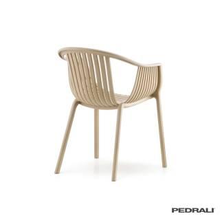 2 Chaises avec accoudoirs TATAMI 306 / Beige / Pedrali