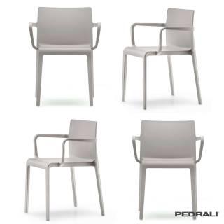 Fauteuil design VOLT 675 / Gris Anthracite / Pedrali