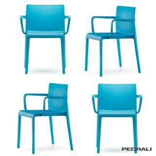 Fauteuil VOLT 675 - Vendu par 4 / Bleu / Pedrali