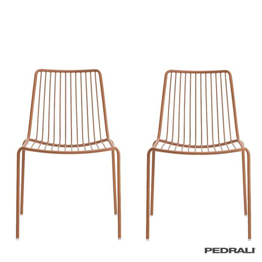 Chaise de jardin NOLITA / H. assise 46,5 cm / 7 coloris