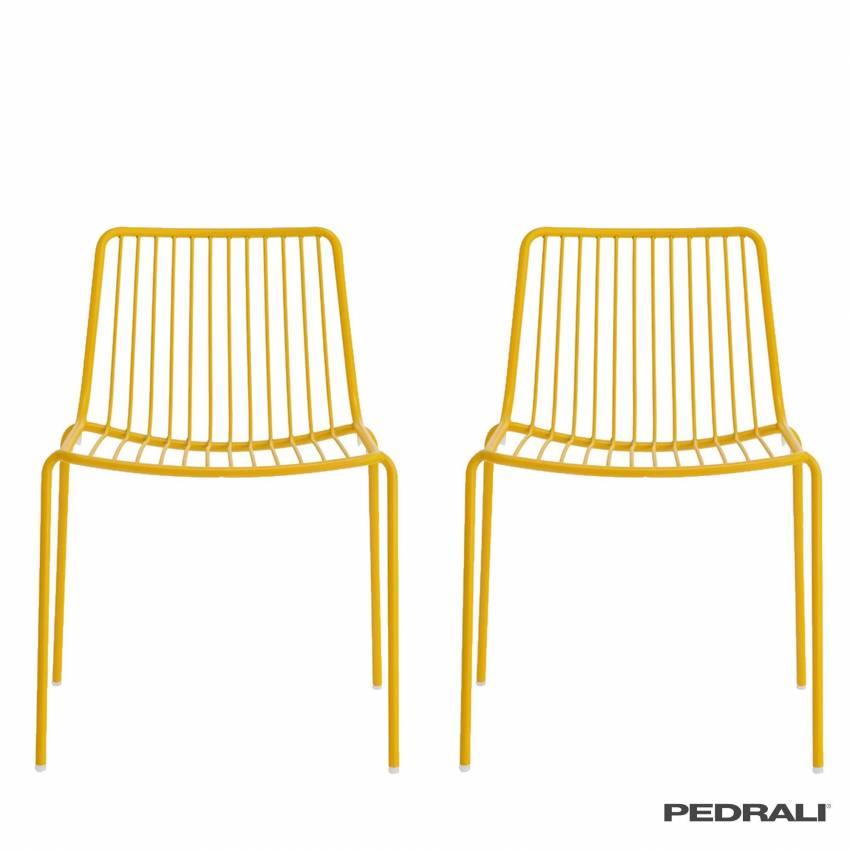 Chaise de jardin NOLITA - Dossier bas / x 2 / Pedrali