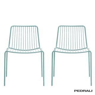 Chaise de jardin NOLITA - Dossier bas / Bleu / Pedrali