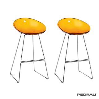 Tabouret haut de bar GLISS 902 / Orange / Pedrali