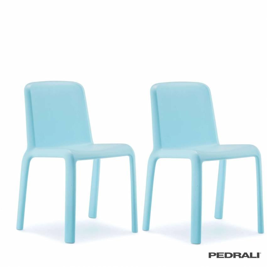 Chaise SNOW 303 JUNIOR - x 4 / Bleu / Pedrali