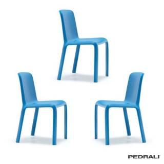 Chaise d'extérieure SNOW 300 - x 3 / Bleu / Pedrali