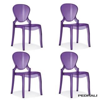 Chaise extérieure QUEEN 650 - x 4 / Violet / Pedrali