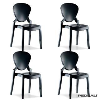 Chaise de jardin QUEEN 650 / Noir / Pedrali